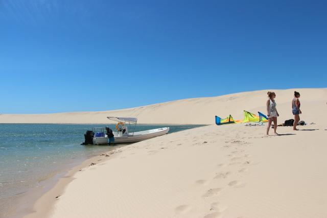 Downwinder naar de white dune
