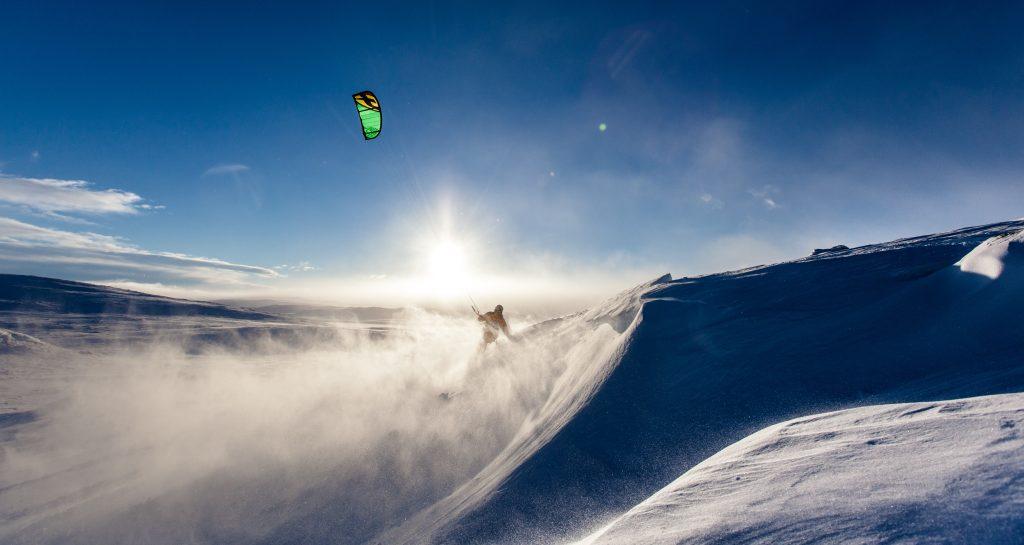 Snowkiten in Noorwegen, deel 1