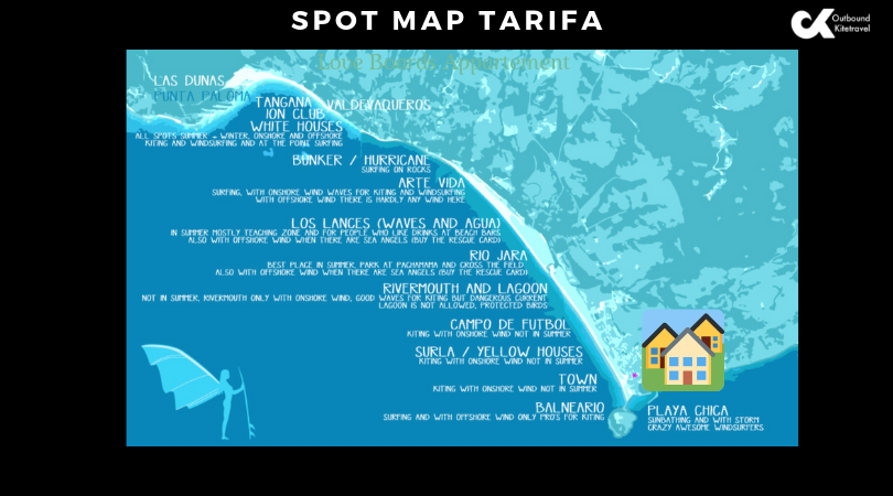 Spot map tarifa glb appartement