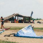 Kitesurfen in Sri Lanka Lagune Kalpitiya