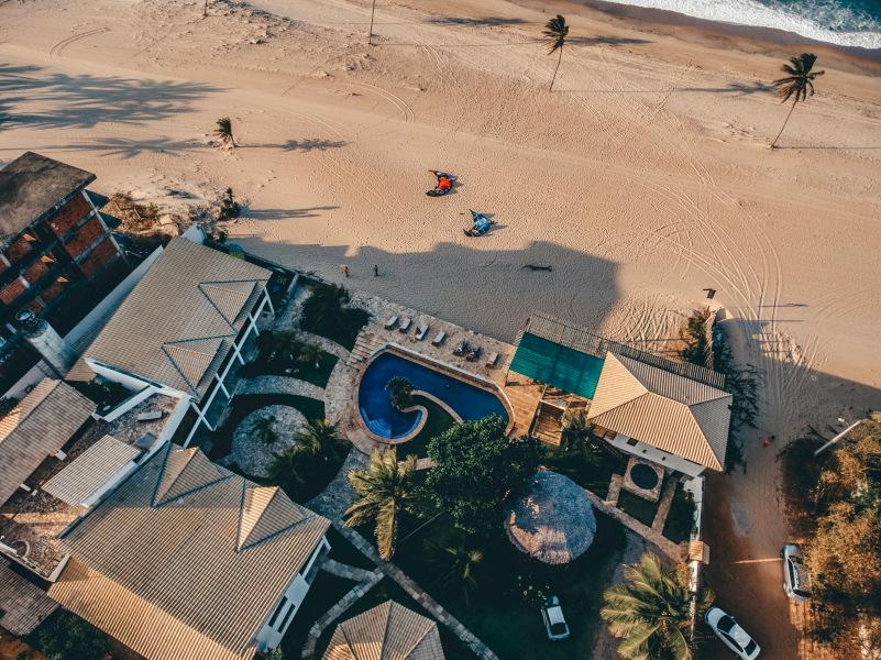 Kitesurf Brazilië -Foto WindTown Hotel bovenaf