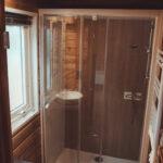 badkamer eco-lodge Frankrijk
