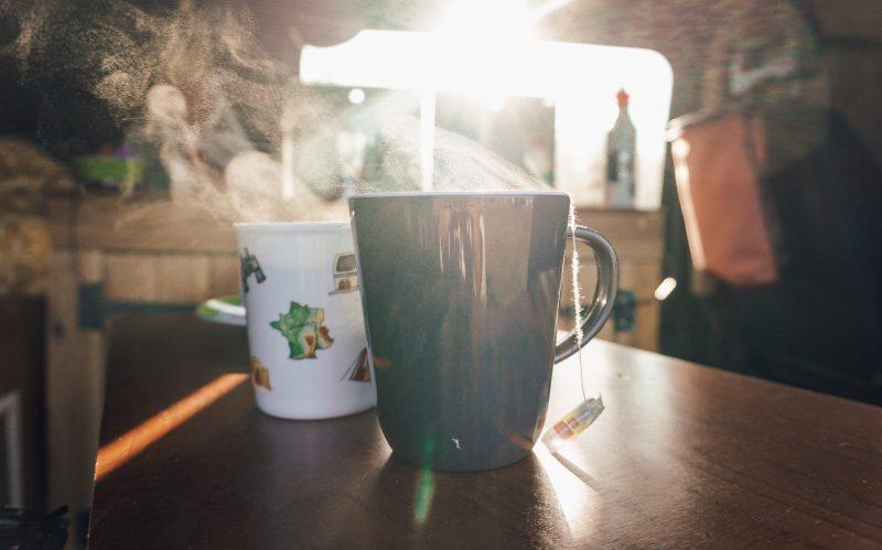 Duurzamer op kitevakantie bio thee en koffie en flextrash prullenbakken
