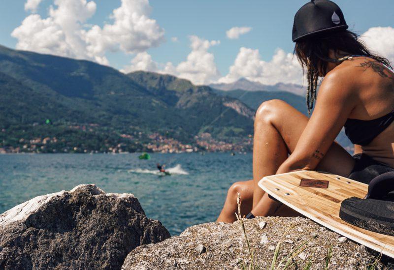 Kiten in Italië bij Lake Como
