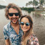 Romina en Daniel kitesurfing lanka