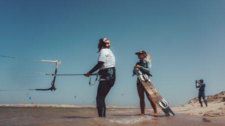 gevorderden kitesurf les en kitecoaching dames
