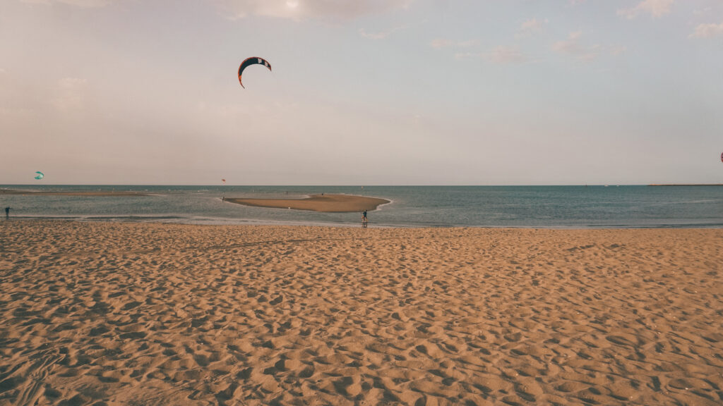 Kitesurf vakantie zuid Spanje spot Isla Canela bij the Kite Finca Huelva